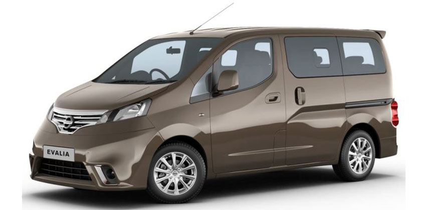 Category K – Nissan Evalia or similar